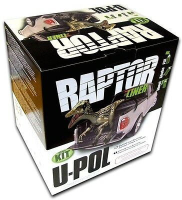 Raptor Spray-On Liner Kit - Black - 4 Litre U-pol RLB/S4 Genuine Top Quality New