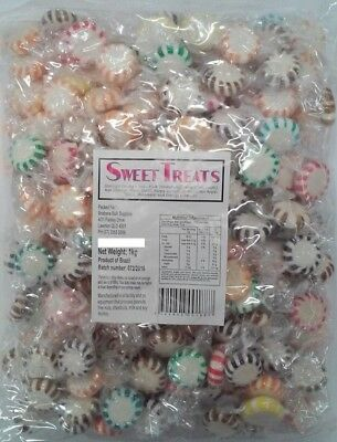 Mixed Colours Starlight Pinwheel Mints 1kg