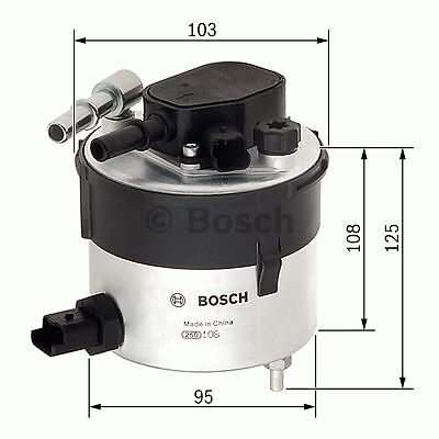 Fuel Filter F026402046 Bosch 1386037 5M5Q9155AA Y60313480 30783135 N2046 Quality