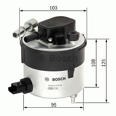 Fuel Filter F026402046 Bosch Ford fits Mazda Volvo N2046