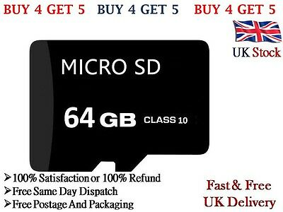 64GB TF Micro SD Memory Card Class 10 With Adaptor For Android Mobile & Camera