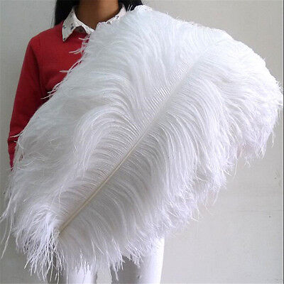 Wholesale10-100pcs High Quality Natural WHITE OSTRICH FEATHERS 6-24inch/15-60cm%