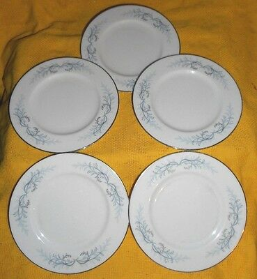 "Franciscan Cosmopolitan Lucerne China 5 Bread Plates  6 5/8"" Excellent Cond"