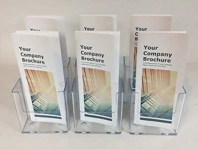 12-PACK of CLEAR ACRYLIC BROCHURE HOLDER TRIFOLD PAMPHLET LITERATURE DISPLAY