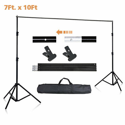 10x6.5Ft Telescopic Background Drop Support Stand Crossbar System Photo Studio
