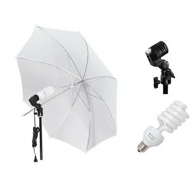 "33"" Photo Studio Translucent White Umbrella 2x Photography Lights lighting Kit"