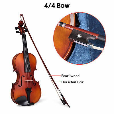 4/4 Full Size Handmade Violin Stradivari Copy Style Fiddle Case Bow Set