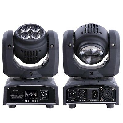 Double 15W LED Moving Head Light 4x10W 4in1 RGBW Stage Lighting DMX Disco Party