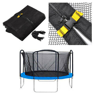 14ft 4 Arch 8 Pole Round Trampoline Enclosure Net Fence Replacement Safety