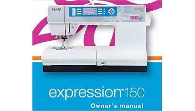Pfaff expression 150 sewing machine owner´s manual Download Pdf-File