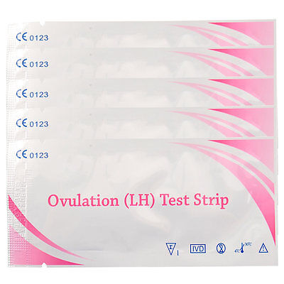 5pcs Ovulation Fertility Easy Test Strips Early Predictor Home Urine Test Kit
