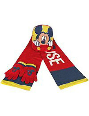 Official Mickey Mouse - Hat, Scarf & Gloves - Boy's 3 Piece Set