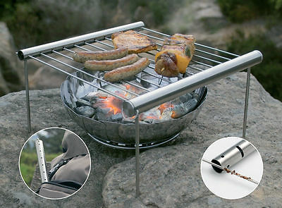 UCO Grilliput Camp Grill Stainless Steel Folds Up Inside a Single Tube Folding