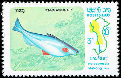Scott # 483 - 1983 - ' Mekong River Fish, Pangasius Sp. '