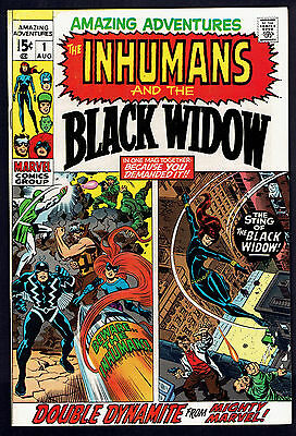 1970 Amazing Adventures #1 VF To NM Inhumans Black Widow