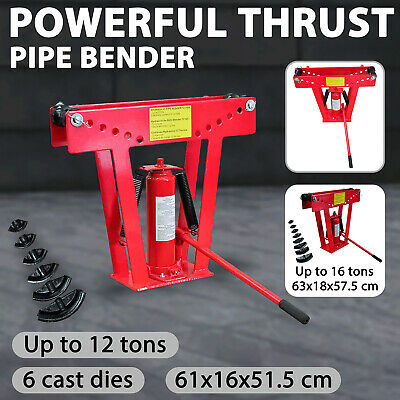 6/8 Dies 12 Ton Hydraulic Tube Rod Pipe Bender Bending Jack Machine Hand Tool