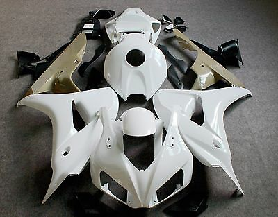 NEW ABS Fairing Kit Shell Bodywork For HONDA CBR1000RR 2006-2007 Unpainted white
