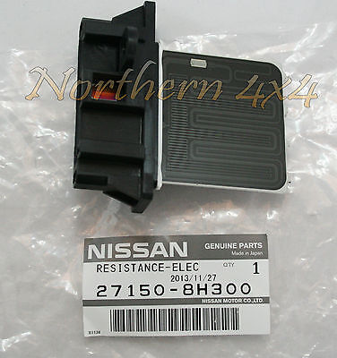 Nissan X-Trail T30 Dualis Pulsar Heater fan resistor 2001 ON. 271508H300 Genuine
