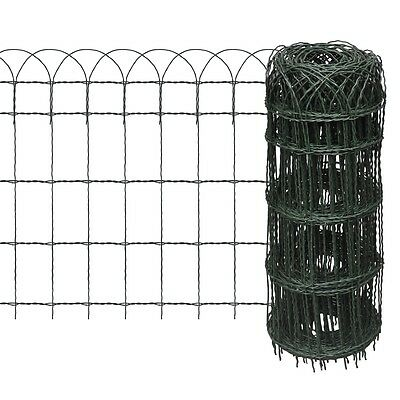 New 10x0.65m Expandable Mesh Fence Garden Edging Border Iron Wire Chain Fencing