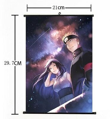 "Hot Japan Anime NARUTO Art Cosplay Wall Scroll Poster Home Decor 8""x12"" 01"
