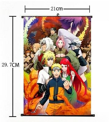 "Hot Japan Anime NARUTO Art Cosplay Wall Scroll Poster Home Decor 8""x12"" 02"