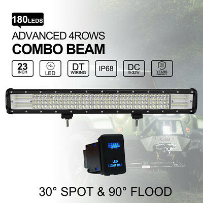 """23 inch 540W Philips LED Light Bar Combo Off Road 4WD Work Driving light 20""""22"""""""