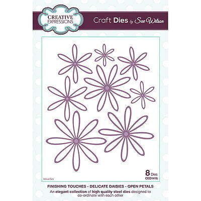 Sue Wilson - Finishing Touches - Delicate Daisies Open Petal Die (CED1416)
