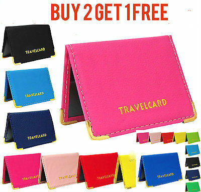 Buy 2 Get 1 Free Travel Oyster Card Bus Pass Holder Wallet Rail Card Cover Case