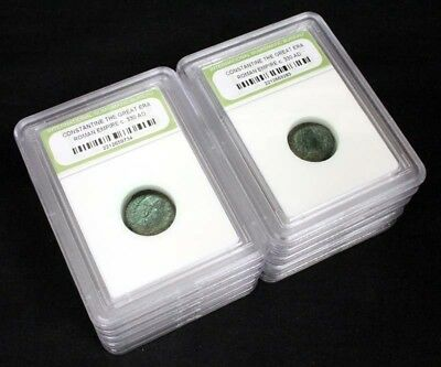 10 Slabbed Ancient Constantine the Great Coins c330 AD-Limited Time Offer $23.50