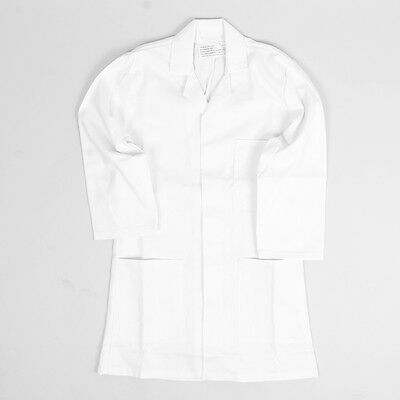 Children's Kids White Laboratory Jacket Lab Coat With Buttons & Pockets