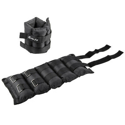 Brand New Set of 2 5 kg Wrist Ankle Weights Gym Training w/ Adjustable Pair Stra