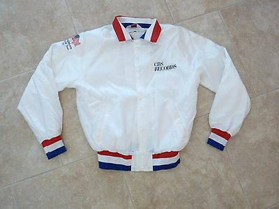 1984 Bruce Springsteen Born In USA White Satin Tour Jacket Size Lrg. CBS Records
