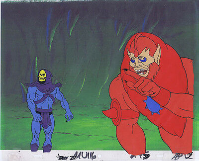 He-Man Masters of the Universe Original Animation Cel & Copy Bkgd #A9265