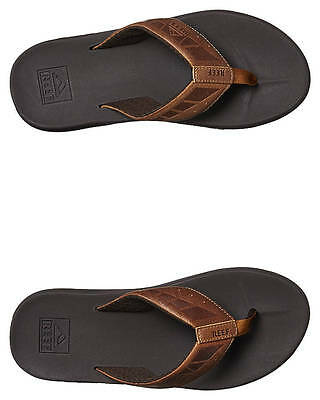 New Reef Men's Phantom Leather Thong Mens Shoes Brown