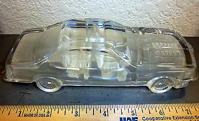 Hof bauer, Crystal Paperweight Car made in west germany cool collectible sedan