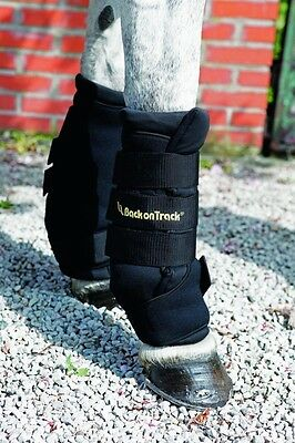 """Back on Track Therapeutic Quick Wraps -  Black - 12"""", 14"""" & 16"""""""