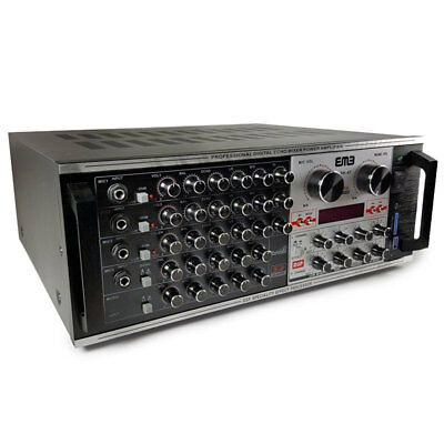 EMP Professional EBK47 1400W Karaoke Echo Power Mixing Amplifier with DSP effect