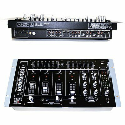 """EMB MIX6 19"""" Rack Mount 4 Channel Professional Mixer w/ Dual 7 Band Graphic EQ a"""