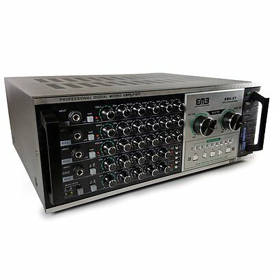 EMP Professional EBK57 1200W Karaoke Echo Power Mixing Amplifier w/Remote/USB/SD