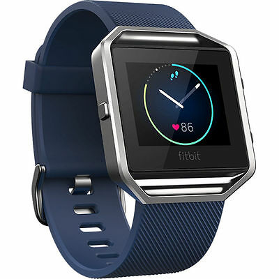 Fitbit Blaze Smart Fitness Watch Activity Tracker Sleep Pedometer Blue Large