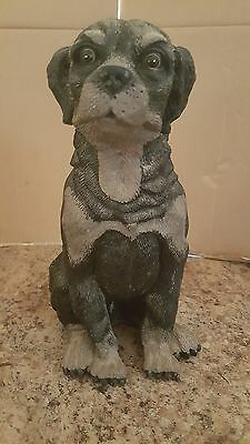 "Resin Rottweiler Dog Statue Sculpture 13"" High Excellent Condition"