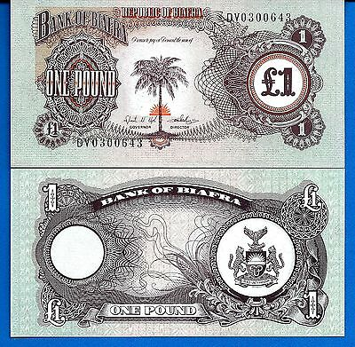 BiaFra P-5 One Pound Year ND 1968-1969 Uncirculated FREE SHIPPING