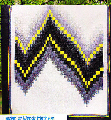 "No Measure Bargello - pieced quilt PATTERN for 2.5"" strips - Cozy Quilts pattern"