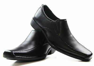 Mens Hush Puppies Mission Extra Wide Men'S Black Leather Work Dress Casual Shoes