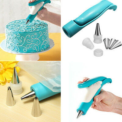 New Pastry Icing Piping Bag Nozzle Fondant Cake Cupcake Decorating Pen Set Tool