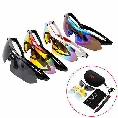 Bicycle Cycling Sports Polarized UV400 Glasses Sunglasses Goggles Eyewear 5 Lens