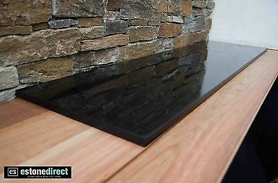1 - Fireplace Hearth Black Polished Granite 1500 x 400 x 20mm