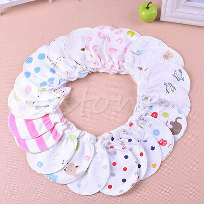 10Pairs Newborn Boy Girl Infant Soft Cotton Handguard Anti Scratch Mitten Gloves