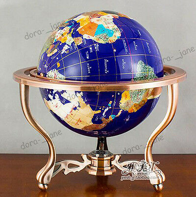 European 15cm Tellurion Gem Decoration Office Globe Gift Hand-made With Compass