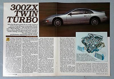 1990 Nissan 300ZX Twin Turbo 6-Page Article AD